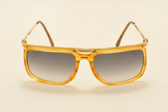 ALAIN DELON Titus 131 squared shape / golden and acetate frame / 80s / NOS / Made in France / new lenses / Vintage sunglasses