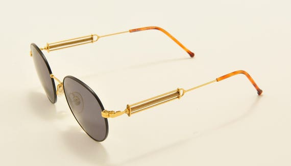Tonino Lamborghini 010 round shape / golden frame / rod adjustable length / 80s model / NOS / Made in Italy / Vintage sunglasses