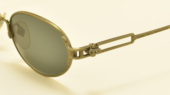 Jean Paul Gaultier 55-5108 oval shape / brass color frame / unmistakable details / NOS / 90s / Made in Japan / Vintage sunglasses