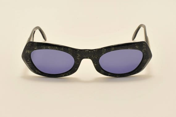 Paloma Picasso 8812 by METZLER squared shape / black acetate frame / golden details / 80s model / NOS / Made in Germany / Vintage sunglasses