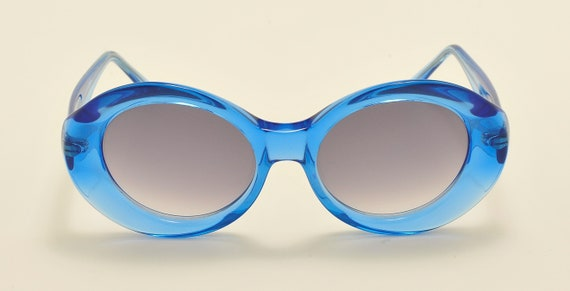Robert La Roche mod. S144 oval shape / acetate frame / nice blue / 80s model / Made in Austria / Vintage sunglasses