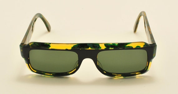 Robert La Roche mod. 327 squared shape / acetate bicolored frame / 80s / NOS / Made in Austria / Vintage sunglasses