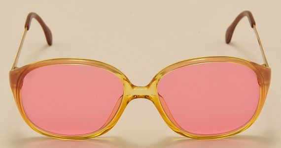 Zeiss 3264 classic shape / acetate and metal frame / NOS / 80s / pink lenses / Made in West Germany / Vintage sunglasses