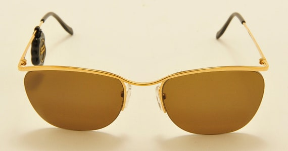 DESIL 04601 classic shape / gold filled frame / Made in Italy / 80s model / NOS / new lenses / Vintage sunglasses