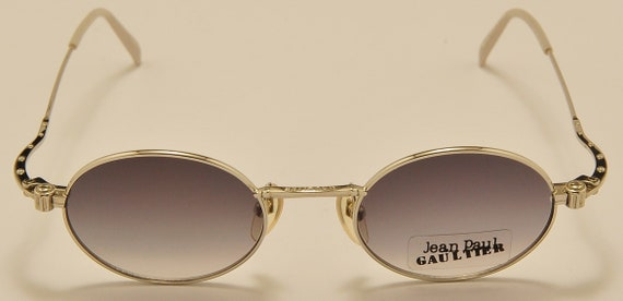 Jean Paul Gaultier 55-6105 oval shape / steel frame / fine details / NOS / Made in Japan / 90s / Vintage sunglasses