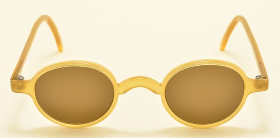 "Galileo ""Archivio 4"" col.5286 oval shape / acetate frame / nice honey color / NOS / 90s / Made in italy / cool taste / Vintage sunglasses"