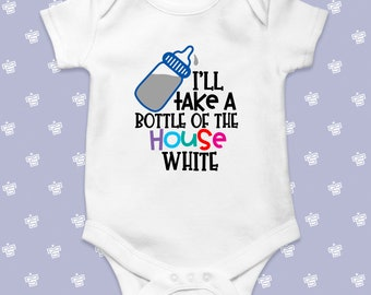 new baby baby bodysuit infant creeper I/'ll Take a Bottle Of The House  baby baby shower gift Fivesies Designs