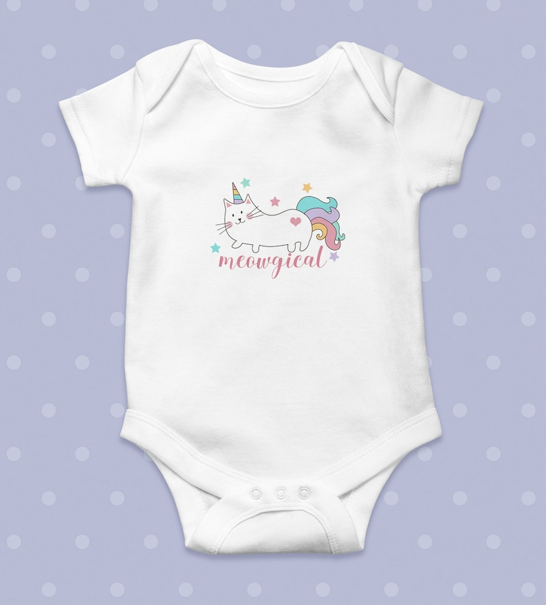 Born To Be A Unicorn Baby Boy Girl Vest Outfit Gift Babygrow Romper Bodysuit