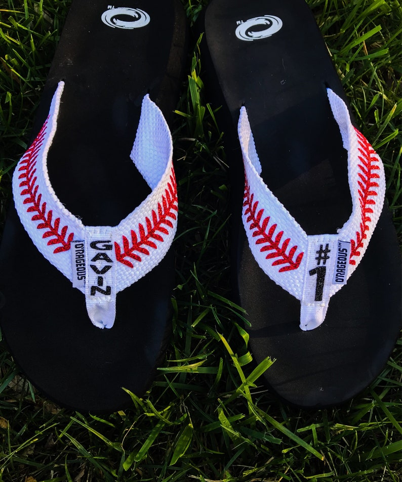 5513ca025666ec Personalized baseball sandals baseball sandals womens