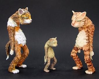 Custom Painted Sculpture Grumpy Cat, Custom Sloppy Grumpy Cat, Figure Painted as Desired