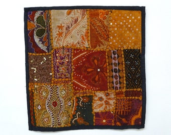 Pillowcase #8 is a festival of fall colors...plus sequins and beads!