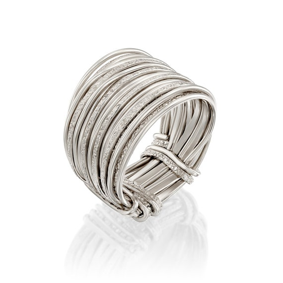 Handcrafted Contemporary Design 925 Sterling Silver Wrap Ring