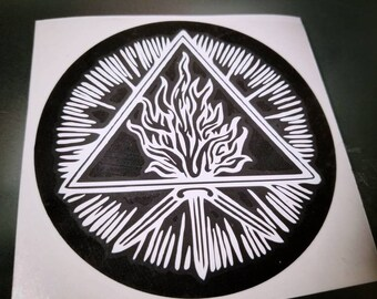 Unholy Trinity cut vinyl decal