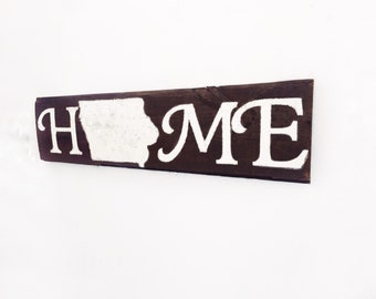 Iowa Sign, Iowa State Sign, Iowa Home Sign, Iowa State Outline, State Home Sign, Large Reclaimed Barn Wood Iowa Sign, Iowa State Wood Sign