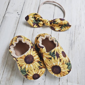 Baby Shoes Sunflower Baby Moccasins