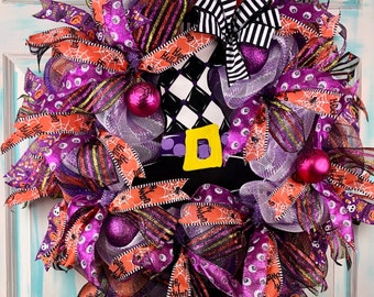 Halloween Wreath,  Front Door Wreath, Halloween Decor, Fall Wreath, Fall Door Wreath