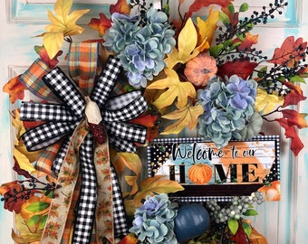 Fall Wreaths for front door, Fall Decor, Fall Floral Wreath, Autumn Decor, Front Door Wreath