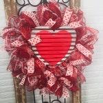 Valentine Front Door Wreath, Valentine Farmhouse Wreath, Valentine Heart Wreath, Valentine Wreaths for Door