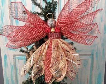 Angel Tree Topper, Angel Ornament,  Tree Ornament, Angel