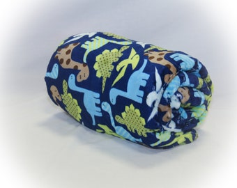 Dinosaur Minky Weighted Blanket - made with Glass Beads