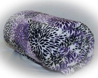 Weighted Blanket Adult Teen Child, Floral, Bohemian, Minky, Sensory Blanket for Autism PTSD Anxiety ADHD Insomnia Therapy