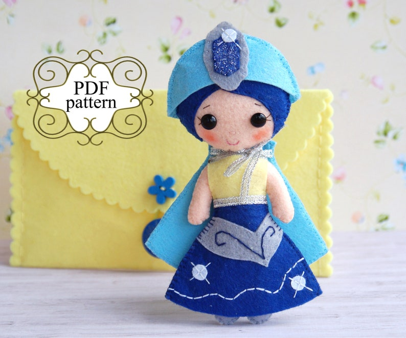 photo about Free Printable Felt Doll Patterns called Felt doll habit Comfortable felt toy practice Felt toy practice PDF doll practice Felt routine for youngsters Softie behavior Sewing doll routine