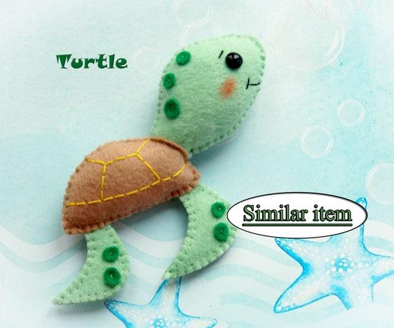 Nursery decor Felt actinia Felt mobile pattern Mobile toy Felt pdf pattern Felt toy pattern Sea animals pattern Felt animal pattern