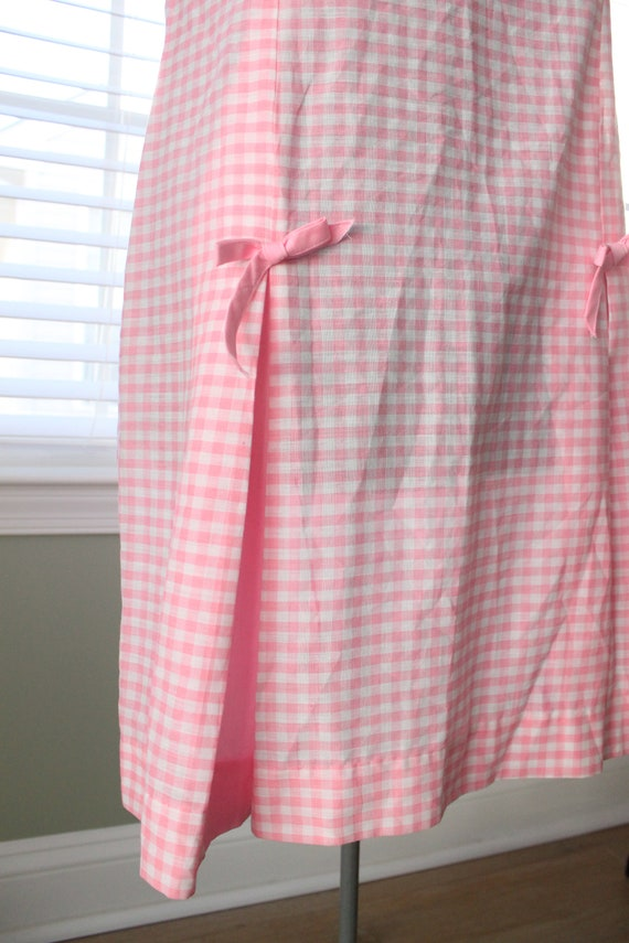 1960s Pink Gingham And Cherry Dress - image 8