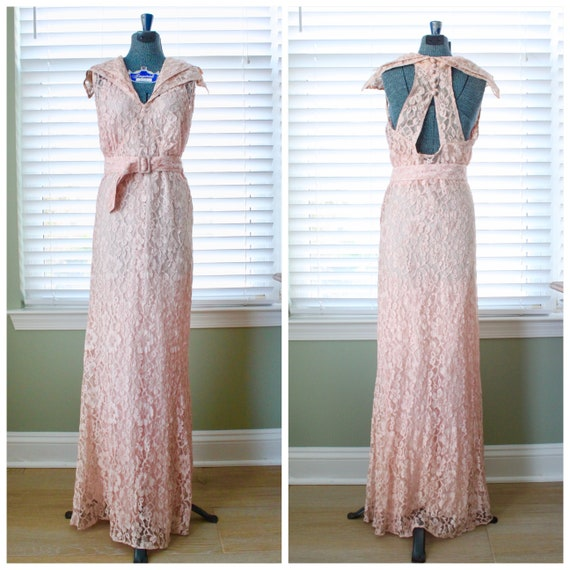 1930s 4 Piece Lace/Bridal Set