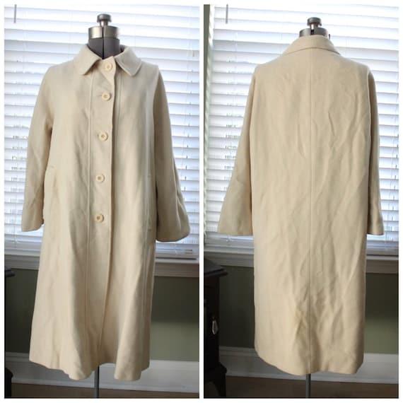 1950s-1960s Cream Cashmere Swing Coat