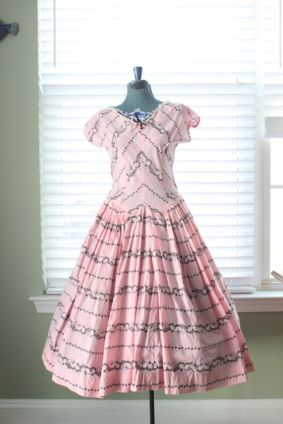 1940s Pink Gingham