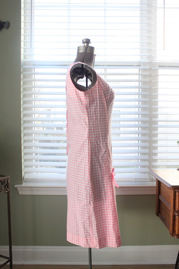 1960s Pink Gingham And Cherry Dress - image 4