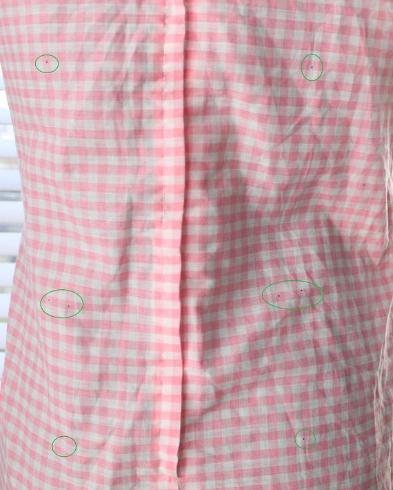 1960s Pink Gingham And Cherry Dress - image 10