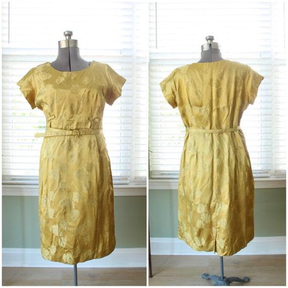 1950s Gold Brocade