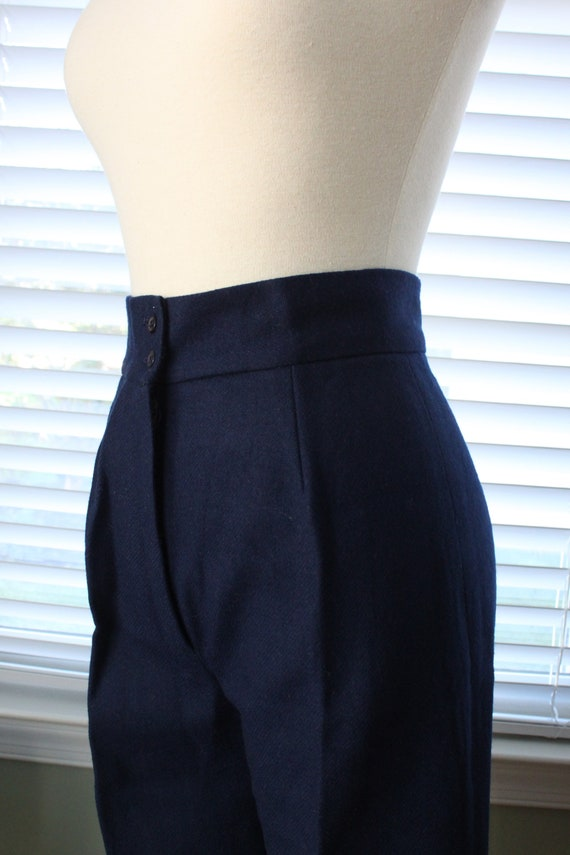 1970s Navy Wool Bell Bottoms - image 4