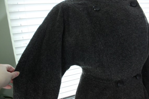 1950s Graphite Gray Princess Coat with Persian La… - image 6
