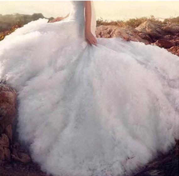 Tissu de mariage 3D volant, gris noir blanc vert gris volant, plissé floral blanc tissu mariée pour accessoires de couture de robe de mariée costume robe 2029e4