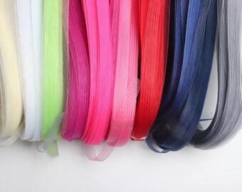 1.5 cm Wide Crinoline horse hair braid flexible sinamay millinery hat trim. Sold by per 10 Meters per lot