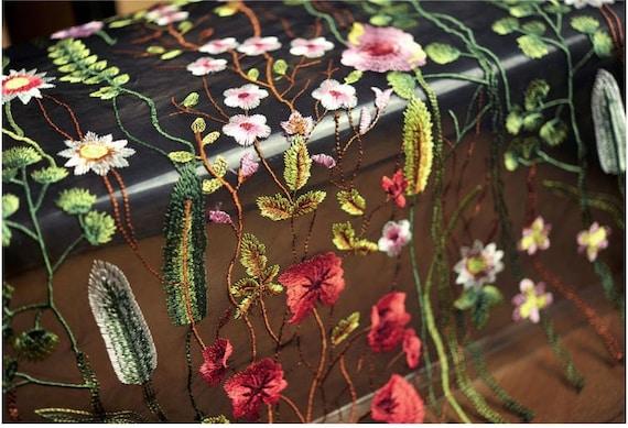 tissu dentelle de lourd brodé haute qualité, tissu de accessoires dentelle florale multi pour les accessoires de de couture robe robe de mariée costume 725aee