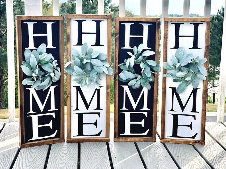 141ea6c11ce24 Home sign | Vertical home sign | Home sign with wreath | Wreath | Home  decor sign | Home | Vertical sign | Wood sign