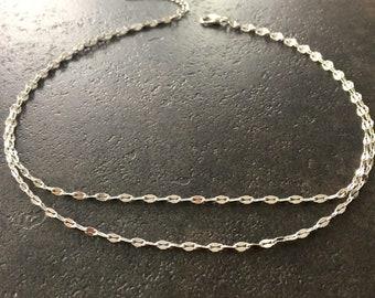 Silver Wrap Necklace, Double Choker Necklace