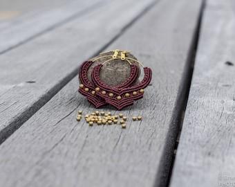 Boho Earrings - Black Currant