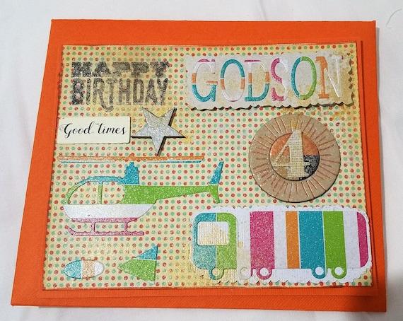 Cards Birthday Card Godson Handmade Any Occasion