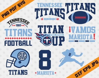 Tennessee Titans, 8 Mariota football, team, cutting machines, T-shirt Design, Tennessee Titans Silhouette, TT-039
