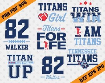 Tennessee Titans, 82 Walker football, team, cutting machines, T-shirt Design, Tennessee Titans Silhouette, TT-040