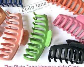 Forbidden Rose Hair Claw Plain Jane Rose Print Claw- Vintage Hair Claw Resin Rose Hair Clamp Large Strong Hair Claw -