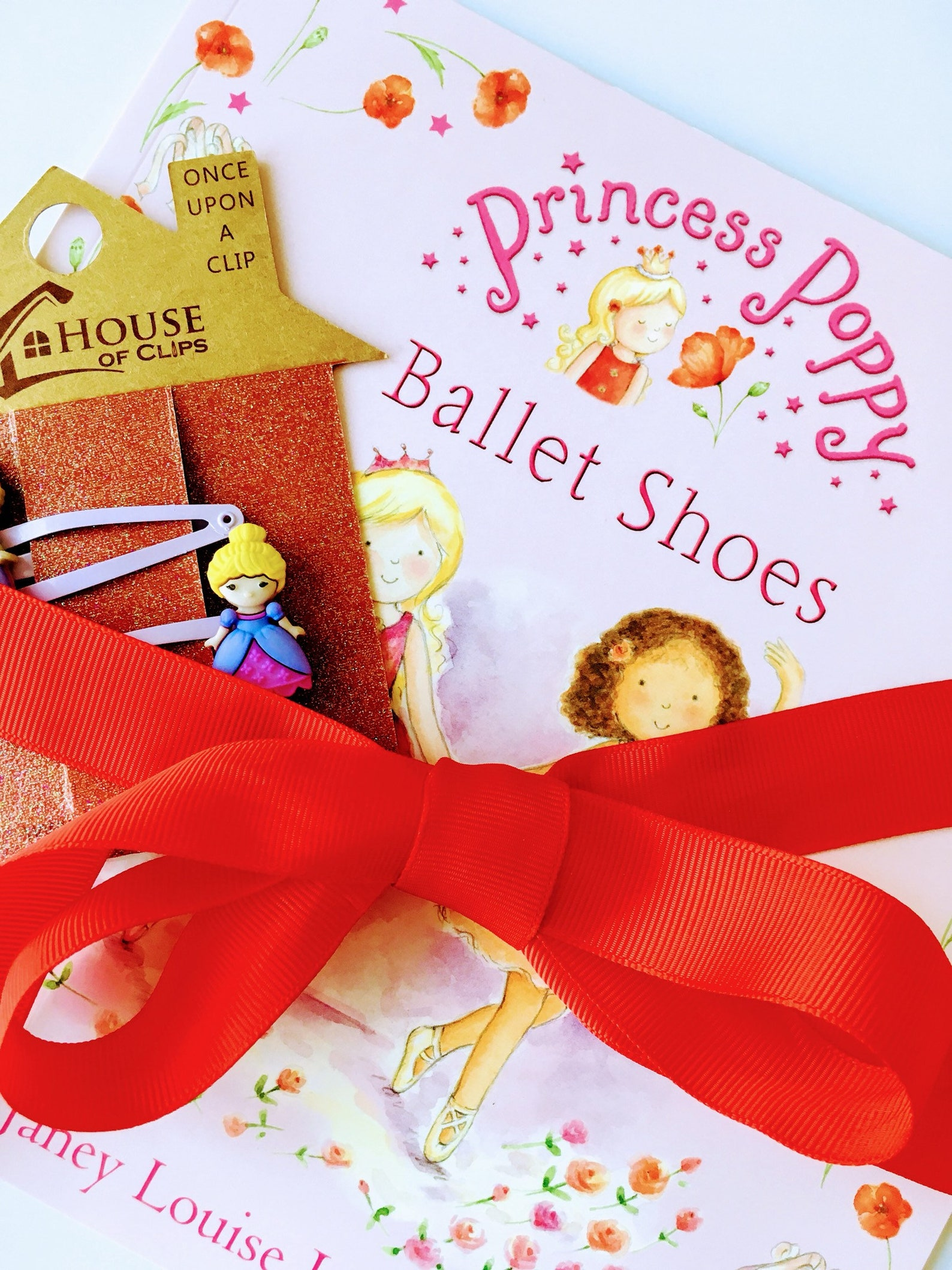 hair clips & books, princess poppy ballet shoes, popular girl gifts, snap clips , gift for girls