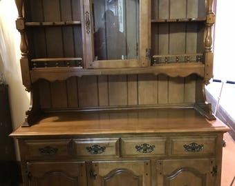 Quick View. Keller Rock Maple Two Piece China Cabinet. KingdomCustomsStore