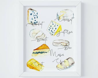 Paris Letter Fromage (Cheese) Printable Print and Stationery, Digital Download by Janice MacLeod, author of Paris Letters
