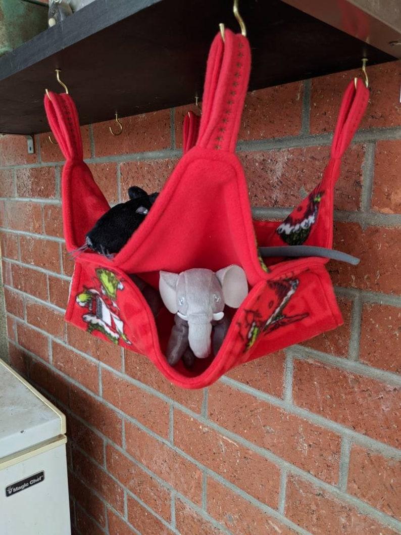 rat Ferret the Grinch chinchilla double hammock squirrel